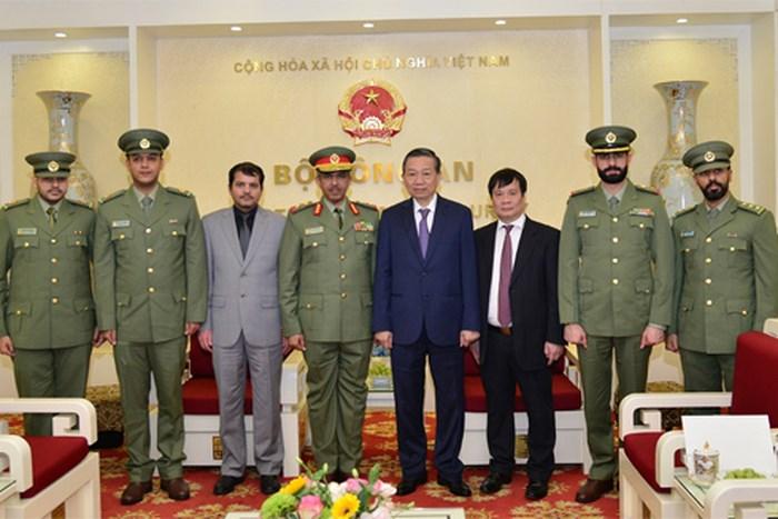 Bộ trưởng bộ công an Việt Nam và Lực lượng Vệ binh Quốc gia Kuwait