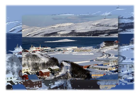 Kirkenes nằm ở phía bắc của Iceland & phía đông Estonia