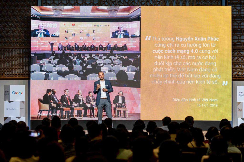 Ông Nitin Gajria chia sẻ tại Chương trình Việt nam Digital 4.0