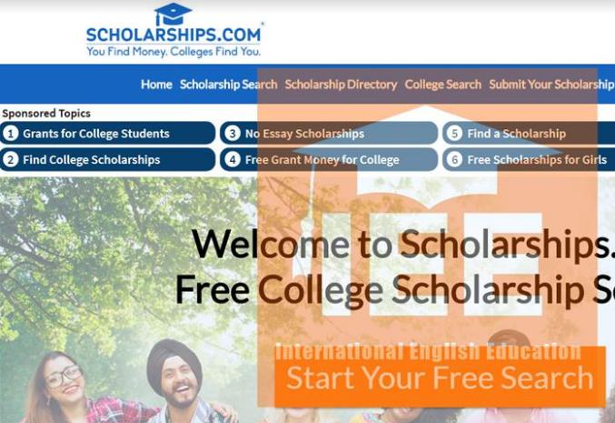 Trang web scholarship.com