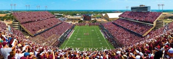 sân bóng của trường đại học Texas A&M