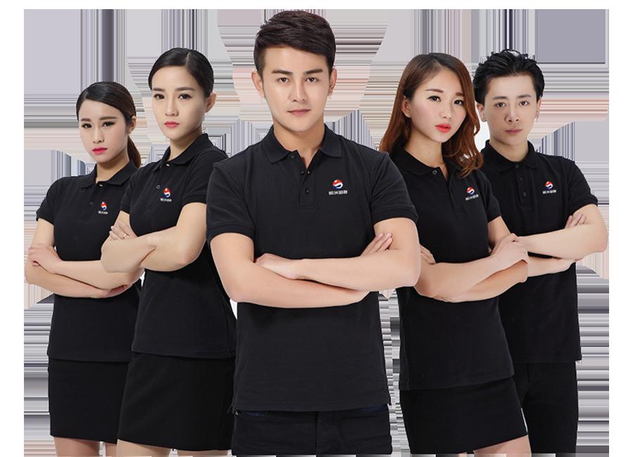 Mẫu đồng phục thun đen
