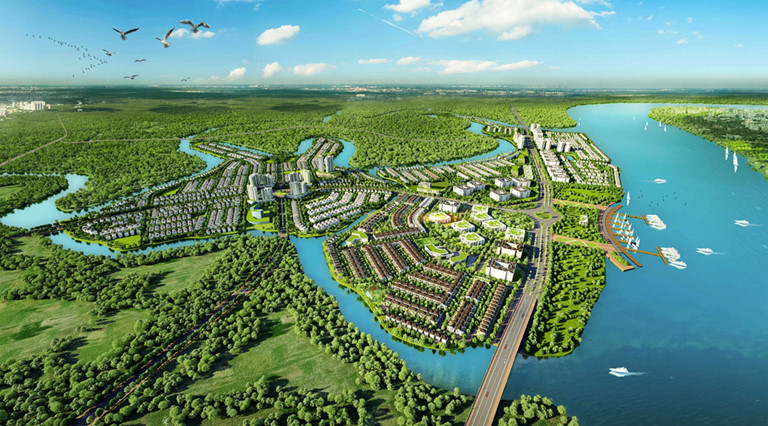 Tổng thể khu đô thị sinh thái Aquacity